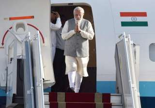 Prime Minister Narendra Modi arrived at Mehrabad airport in Tehran on his two days visit in Iran on Sunday.