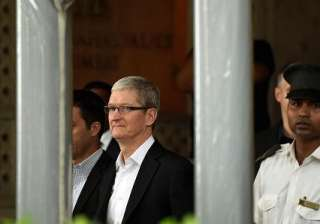 Apple CEO Tim Cook at the Taj Mahal Palace hotel where he stayed in Mumbai.