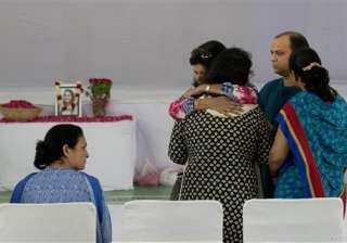 Relatives and friends of Tarishi Jain, a victim of the attack on Dhaka's Holey Artisan Bakery, carry her coffin for a memorial service before cremation in Gurgaon, on the outskirts of New Delhi, India.