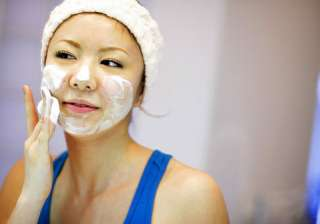 Wash your face with mild cleanser only once or twice a day with lukewarm water. Avoid scrubbing or using harsh abrasive products. Also, make sure one that you are washing your face in the evening to remove makeup and dirt.
