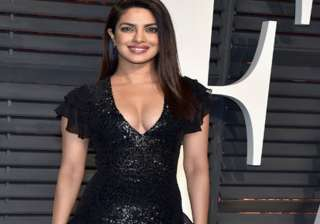 Bollywood actress Priyanka Chopra slayed at the red carpet in her Ralph Russo gown and then again mesmerised everyone when she wore a black dress in Oscars after-party. The lady was looking drop dead beauty.