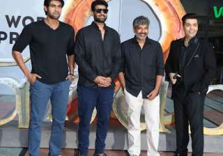 The team of 'Baahubali 2' were dressed in black outfits and were quite excited at the event. The trailer of much-anticipated film 'Baahubali 2' received good response and even set a record of becoming the most viewed trailer in Indian cinema history. The movie is the second instalment of 'Baahubali'.