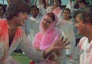 """Rang Barse Silsila This popular song from the iconic movie """"Silsila"""" has continued to entertain every generation since its release. We secretly hope for the DJ to play this song in every Holi party and the energy level instantly goes many notches up just when this song plays."""