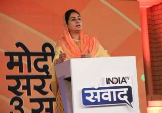 """Presenting a report card of her ministry, Food Processing Industries Minister Harsimrat Kaur Badal said, """"FDI, GDP growth rate, ease of doing business rank shows that Modi government has worked tremendously. Modiji's vision that food processing department can help double farmers' income and we are working towards that."""