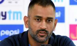 MS Dhoni speaks to media after match against New Zealand- India Tv