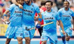 Indian hockey team wear black arm bands to condole attacks- India Tv