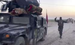 Iraqi soldiers in the Qatash area towards Kirkuk gas plant,
