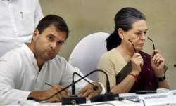 Congress vice president Rahul Gandhi with mother Sonia