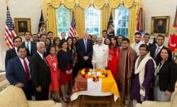 President Donald Trump held a small Diwali celebration at