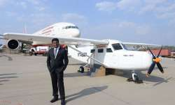 Amol Yadav with his aircraft