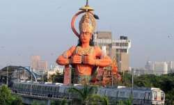 108-foot Hanuman statue in New Delhi's Karol Bagh.