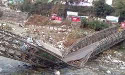 The makeshift Gangotri bridge collapsed around 6 am when