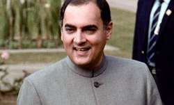 File pic of Rajiv Gandhi