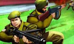 The animation strip follows the action faced by CRPF