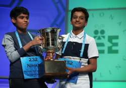 Spellers Nihar Saireddy Janga and Jairam Jagadeesh Hathwa