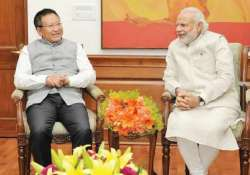 Nagaland Chief Minister T R Zeliang with PM Modi
