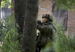 Jawan takes position in a near by house during an encounter- India Tv