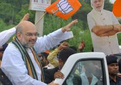 Amit Shah targets Congress over internal democracy