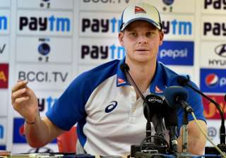 Steve Smith addressing a press conference in ...