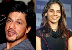 here s how shah rukh just made fangirl saina nehwal s day