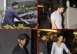 karan gauri sharman uday visited hrithik at hinduja