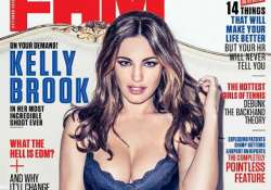 kelly brook poses hot for fhm magazine