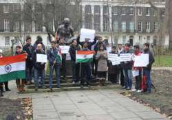 demonstration in london for delhi gang rape victim