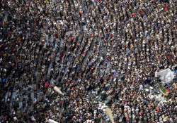 egypt army sides with mubarak massive rally in cairo