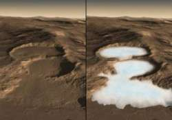 below mars dust are glaciers with frozen water