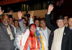 nepal elects first woman speaker of parliament