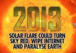 massive solar flare could paralyze earth in 2013