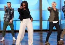 michelle obama dances with ellen degeneres to uptown funk