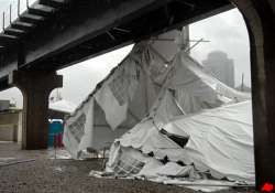 1 dead after storm blows down us beer tent