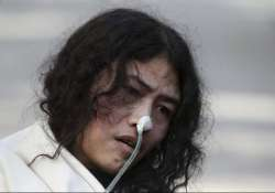 irom sharmila released from custody resumes fast