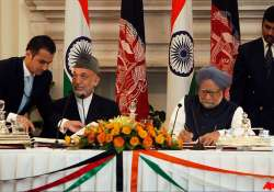 india afghanistan sign strategic partnership agreement
