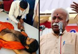 rss chief appeals to ramdev to end fast