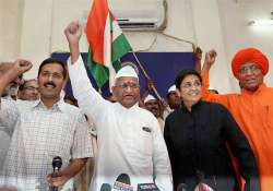 united team hazare rules out exit of bhushans from drafting