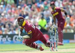 world cup 2015 west indies sent in to bat score 310 6 vs