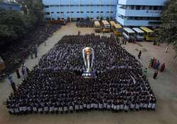 cricket fan makes golden replica of world cup trophy in mp