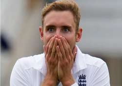 in pics broad rattles aussie batting lineup with his career