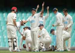 sheffield shield round abandoned after hughes mishap