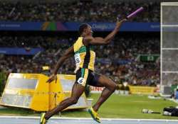 bolt leads jamaica to 4x100 world record