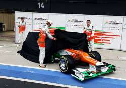 force india unveil 2013 car