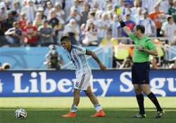 fifa world cup argentina s rojo out of quarters with two