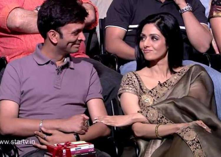 sridevi cheers up sexual abuse victim on aamir s show- India Tv