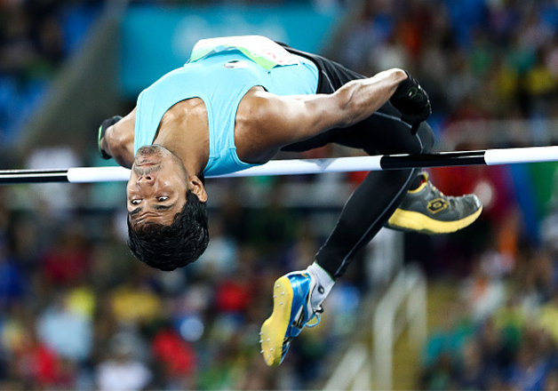 Bhati Varun Singh competes in the Men's High Jump T42 final on day 2 of the Rio 2016 Paralympic Games at Olympic Stadium on September 9, 2016 in Rio de Janeiro, Brazil.