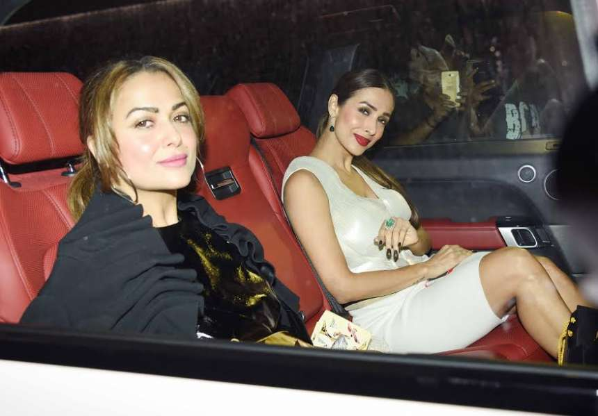Kareena's close friends Amrita Arora and Malaika Arora graced the party. Malaika wore a beautiful white dress whereas Amrita was dressed in black.