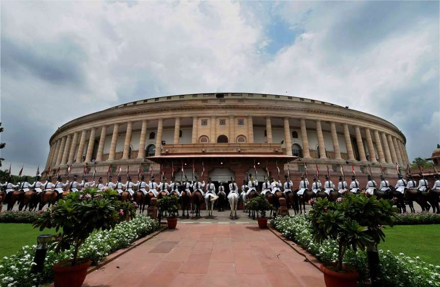 President's bodyguards at Parliament ahead of the swearing-in ceremony of the 14th President of India