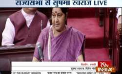 Sushma Swaraj in Rajya Sabha