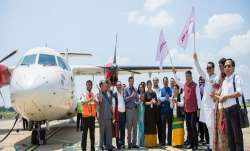 Arunachal Pradesh  CM Pema Khandu flagging off the Air